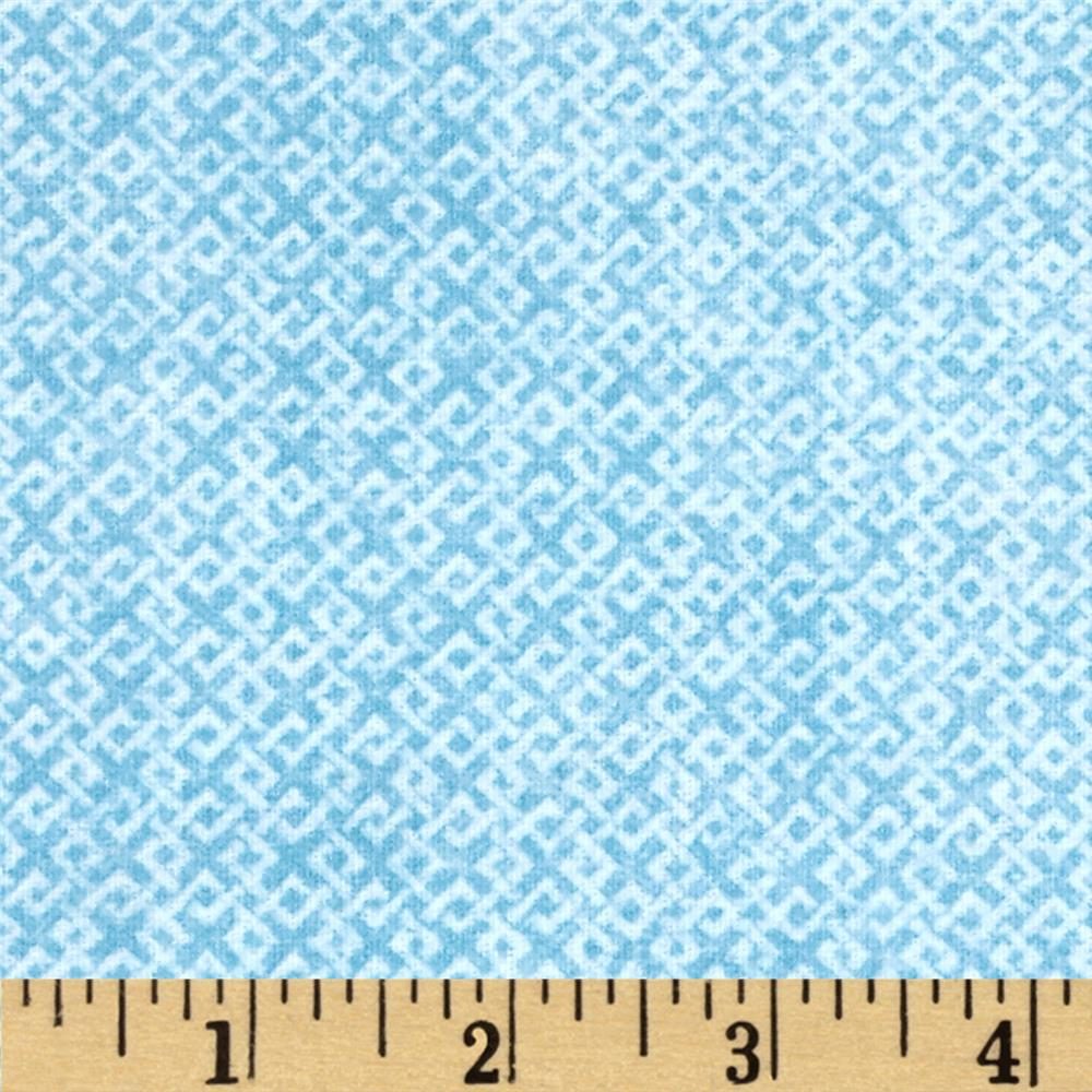 Criss Cross Flannel Blue Fabric By The Yard