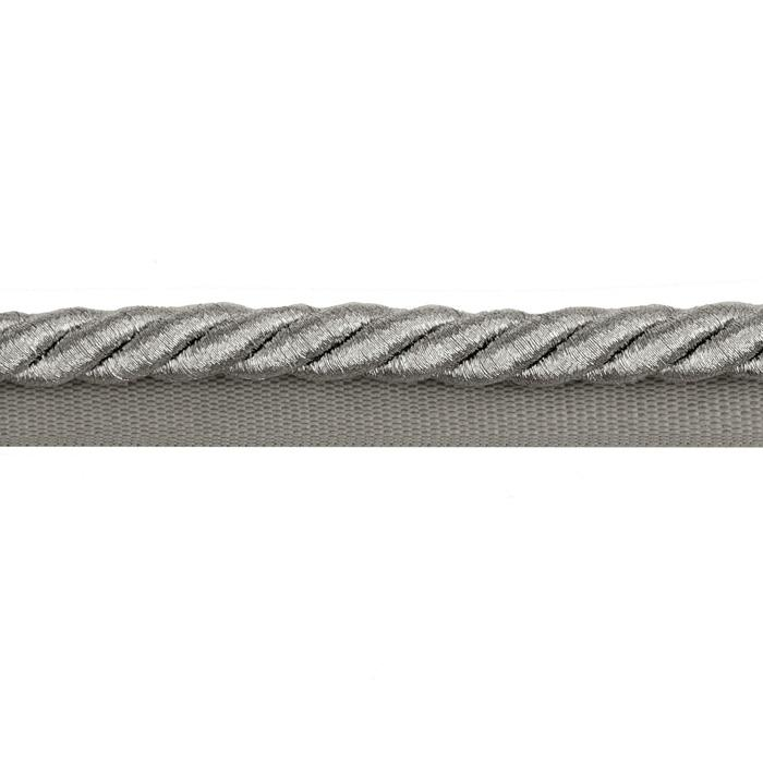 "Expo 3/8"" Nicholas Lip Cord Trim Metallic Silver"