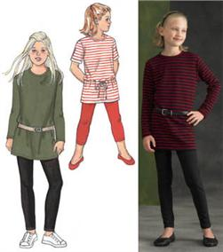 Kwik Sew Girl's Tunics and Leggings Pattern