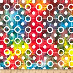 Artisan Batiks Pop Op Circle String Rainbow