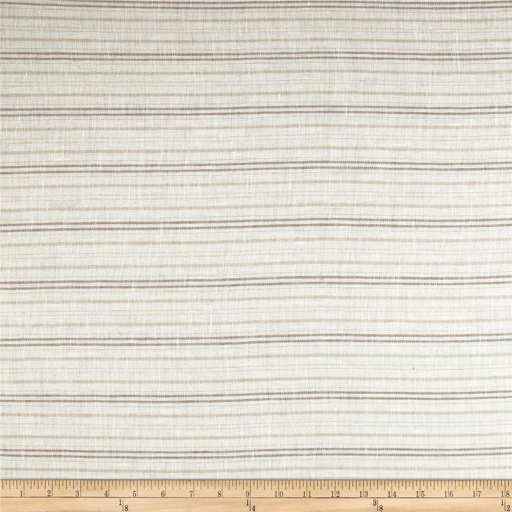 Robert Allen Promo Sterling Lines Linen Sheer Natural