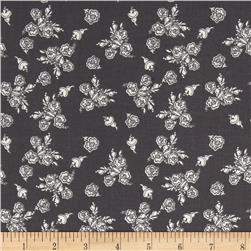 Riley Blake Think Pink Floral Grey