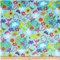 Minky Cuddle Fly Away Butterflies Turquoise
