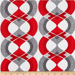 Mod Tex Geo Stripe Red