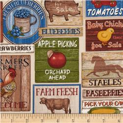 Happy Homestead Farm Signs Cream