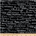 Moda Merry Scriptmas Greetings Blackboard