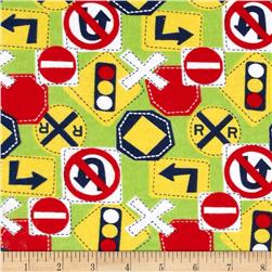 Flannel Traffic Signs Green