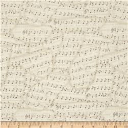 Timeless Treasures Bonjour Mon Amour Sheet Music Cream