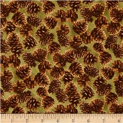 Northwoods Pinecones Green