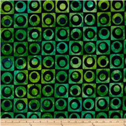 Robert Kaufman Elemental Batiks Geos Circle Box Tropical