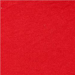 Rayon Lycra Jersey Knit Lipstick Red Fabric