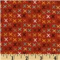 Riley Blake Giraffe Crossing Flannel Giraffe Tic Tac Red