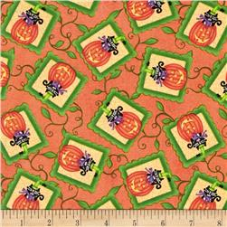 Hocus Pocus Pumpkin Patch Orange Fabric