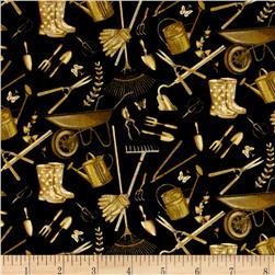 Sew Vintage Garden Treasures Black