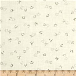Lecien Yuletime Cozy Christmas Hearts Gray