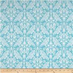 Riley Blake Flannel Medium Damask Aqua Fabric