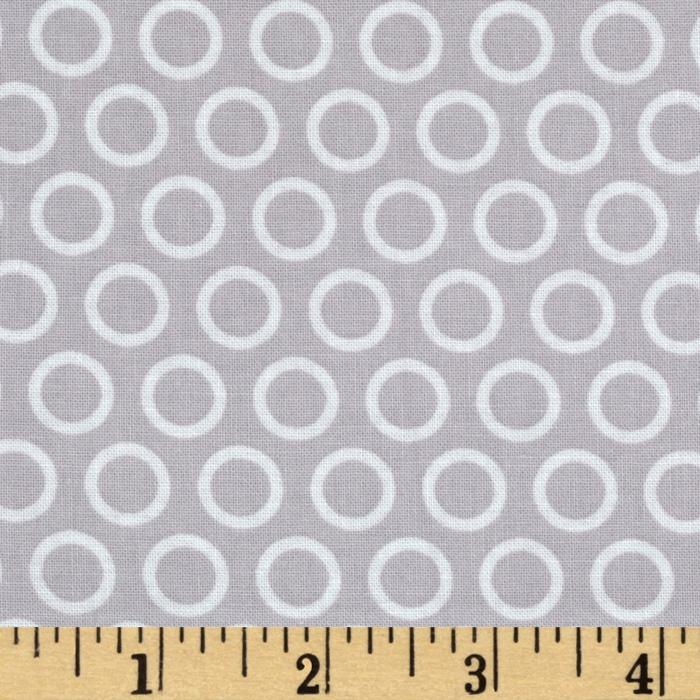 Riley Blake Super Star Cheery Circle Grey