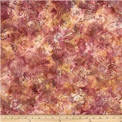 Bali Batik Handpaints Flowers Camellia Fabric