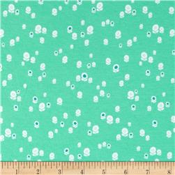 Art Gallery Geometric Bliss Cotton Jersey Knit Spherical Buds Aqua