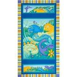 Jungle Club Dinosaur World Panel Surf Blue