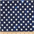 Island Batik Quilted in Honor Batik Stars Navy/White