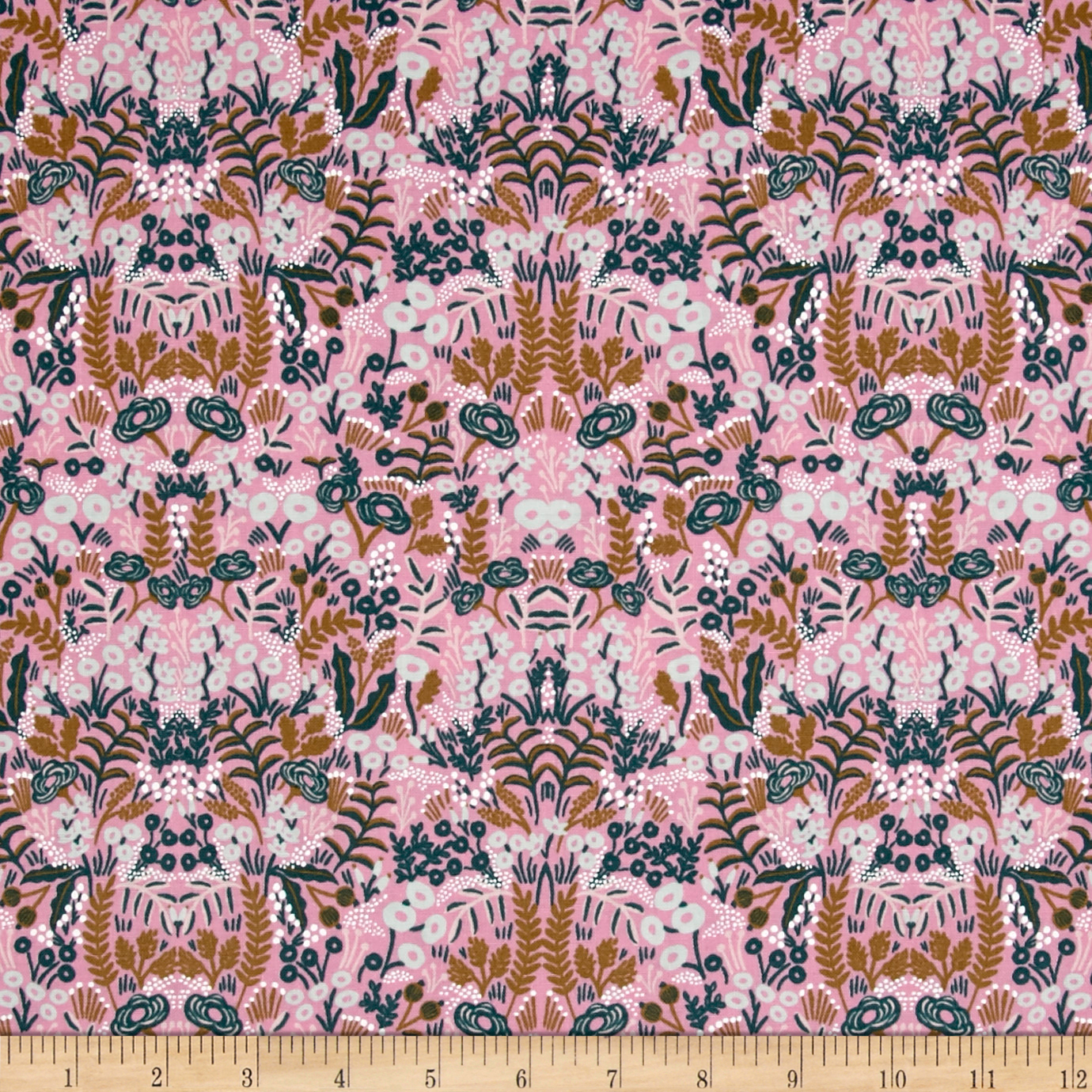 Image of Cotton + Steel Rifle Paper Co. Menagerie Tapestry Violet Fabric