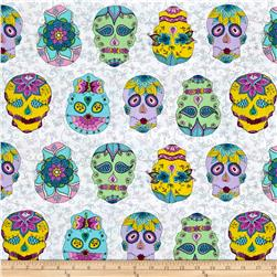 Day Of The Dragonfly Sugar Skulls White/Multi
