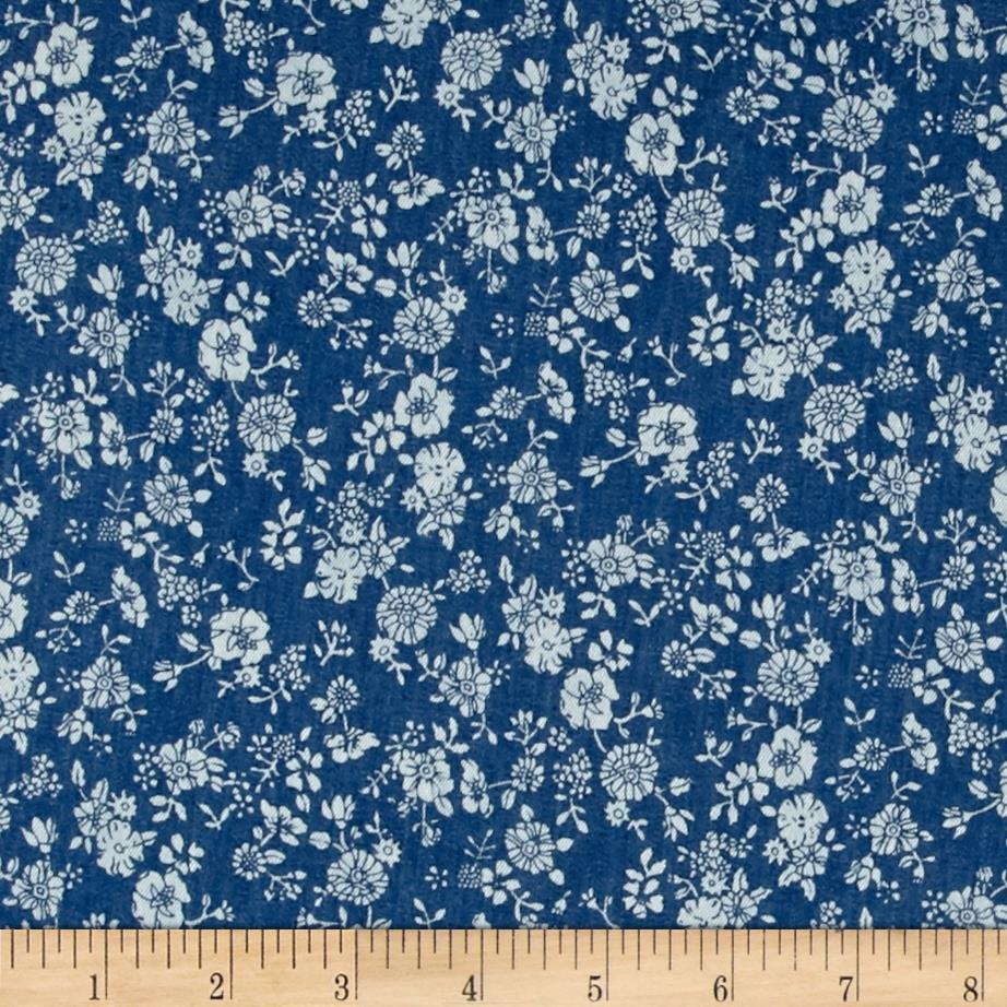 Telio Denim Floral Print Light Blue