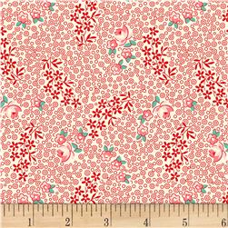Vintage 30'S Florals Rose Red