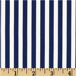 Michael Miller Clown Stripe Nite/White Fabric