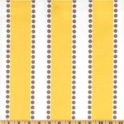 Premier Prints Lulu Stripe Slub Yellow/Taupe