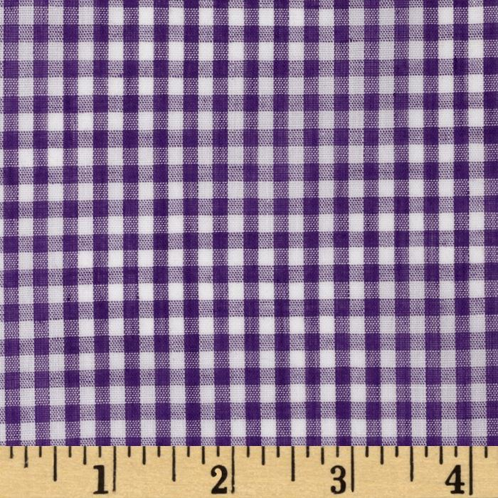 Wide width 1 8 39 39 gingham check purple discount designer for Cheap childrens curtain fabric