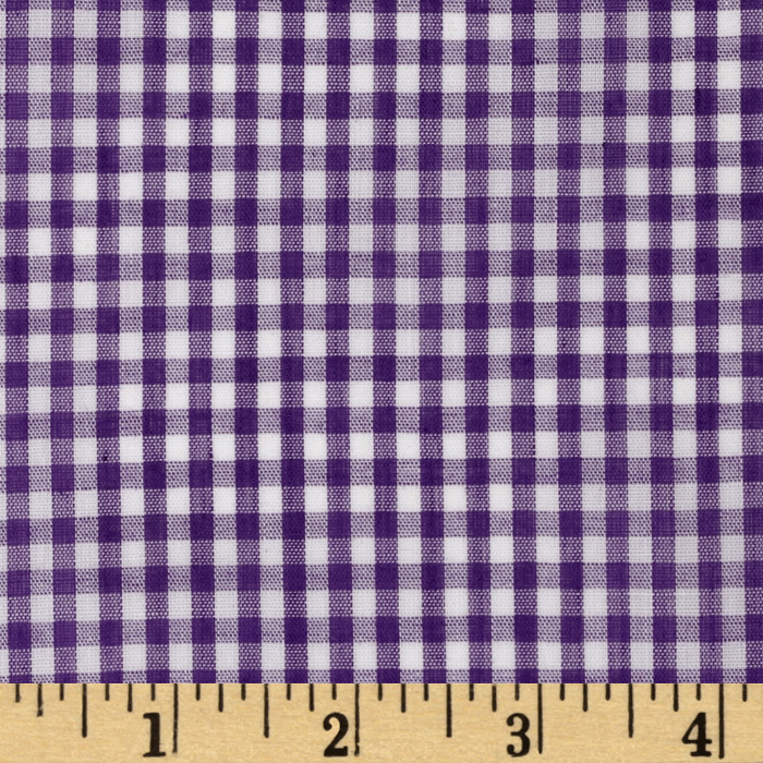 Woven 1/8'' Gingham Purple Fabric