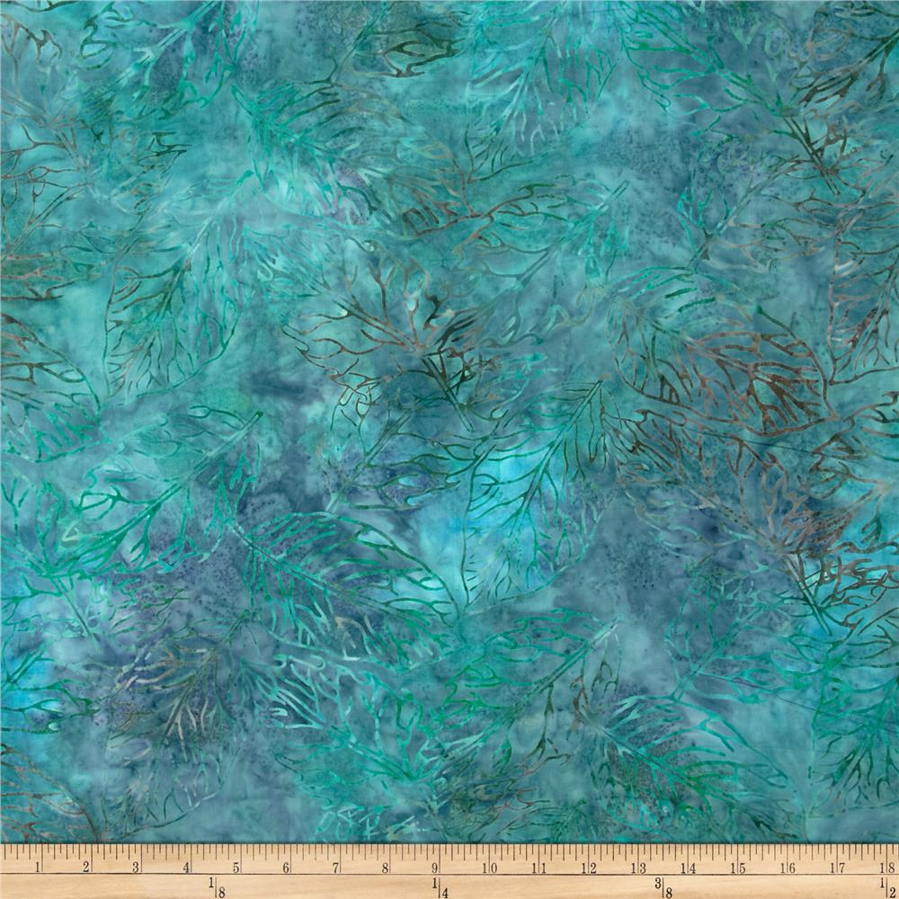Jinny Beyer Malaam Batiks Fountain Leaf Teal