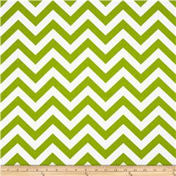 Premier Prints Zig Zag Chartreuse/White