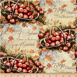 Susan Winget Autumn Basket of Apples Multi