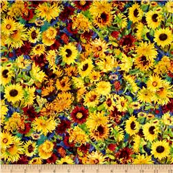 Flowers Of The Sun Small Packed Sunflowers Gold/Multi