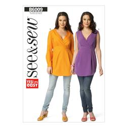 Butterick Misses' Top Pattern B6009 Size 0A0