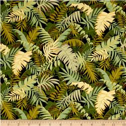 Moda Sunshine Tropical Ferns Black