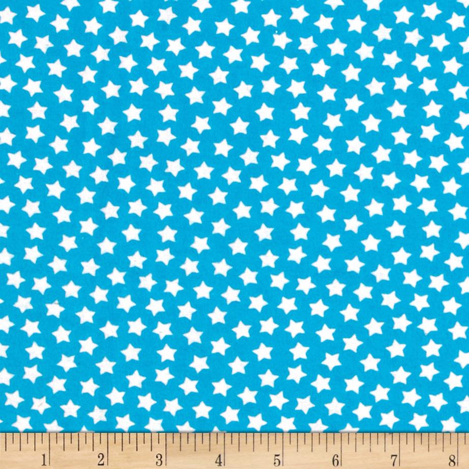 Camelot Flannel Stars Horizon Blue