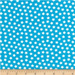 Camelot Flannel Stars Horizon Blue Fabric