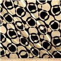 Satin Charmuese Many Moons Geometric Black/Gold