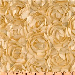 Loveable Satin Ribbon Rosette Beige
