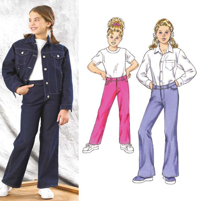 Kwik Sew Girls' Jeans Pattern Sizes 4-7