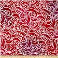 Indian Batik Cascades Scroll  Pink/Purple