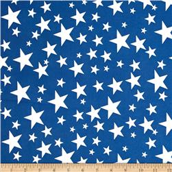 Alpine Star Poplin Blue/White