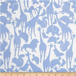 Michael Miller Cynthia Rowley Oh Baby Animal Silhouettes Blue