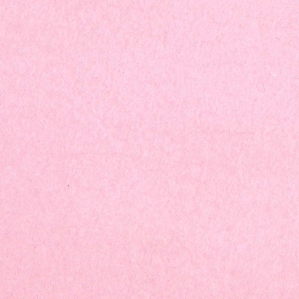 Warm Winter Fleece Solid Baby Pink Fabric