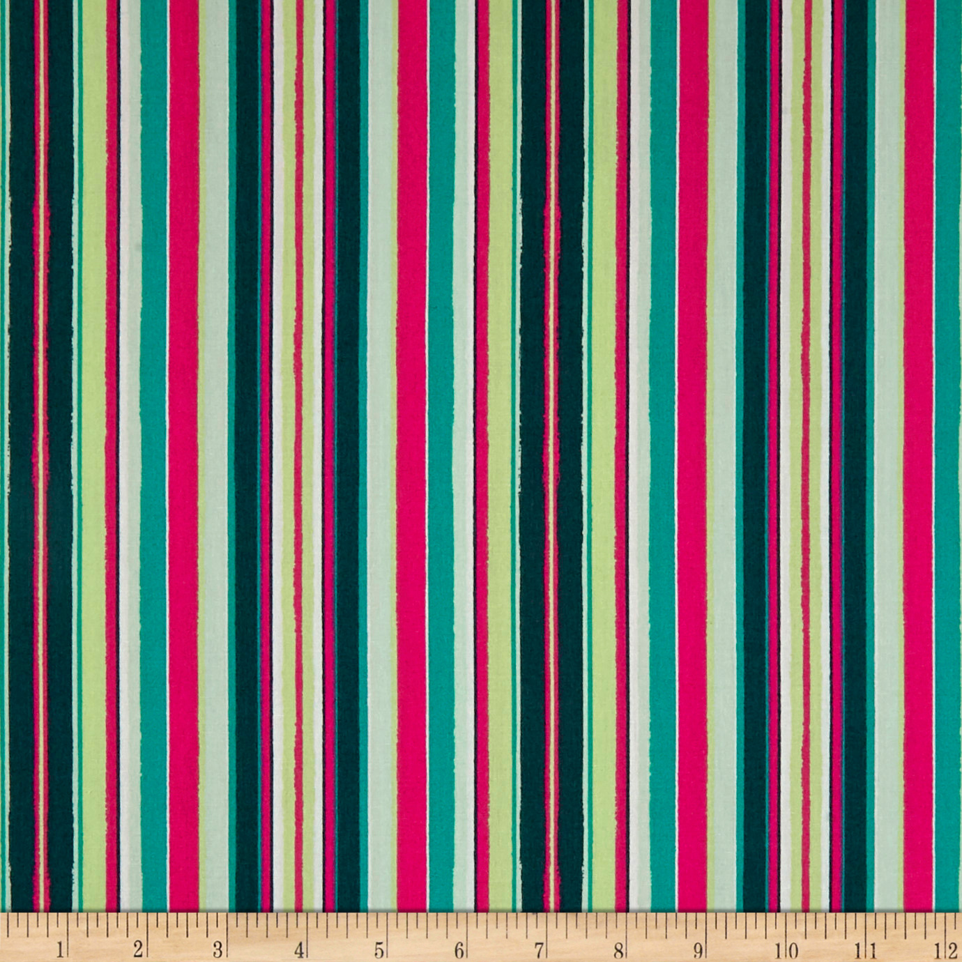 Art Gallery Loved To Pieces Striped Flow Rainbow Pink Fabric