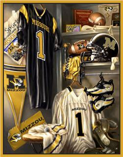Collegiate Locker Room Fleece Panel University Of Missouri
